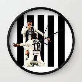 football stars Wall Clock
