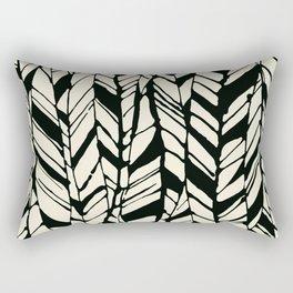 black and white feather texture Rectangular Pillow