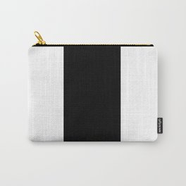 TEAM COLORS 7...Black and white Carry-All Pouch
