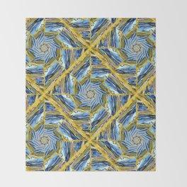 golden day kaleidoscope pattern Throw Blanket