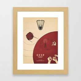 Sputnik Framed Art Print
