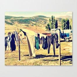 Laundry Day On The Farm Canvas Print