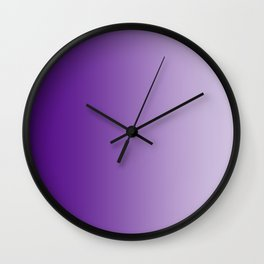Violet to Pastel Violet Vertical Linear Gradient Wall Clock