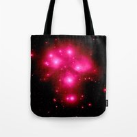 constellation Tote Bags featuring constellation : 7 Sisters of Pleaides by 2sweet4words Designs