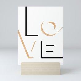 True Love Never Ends #minimal #words Mini Art Print