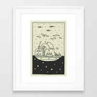 ship Framed Art Prints featuring Ship by inktheboot