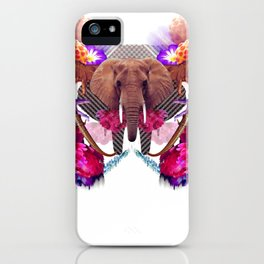 Sacred Elephant Laughs at Giant Cosmonauts in Need of Therapy iPhone Case