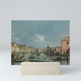 Venice: The Grand Canal facing Santa Croce by Bernardo Bellotto Mini Art Print
