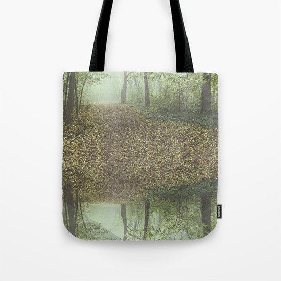 Walk in the Surreal Misty Forest Tote Bag