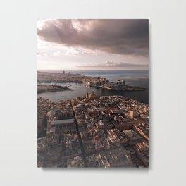 Valletta City Malta Aerial  Metal Print