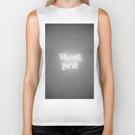 Thank You (Black and White) Biker Tank