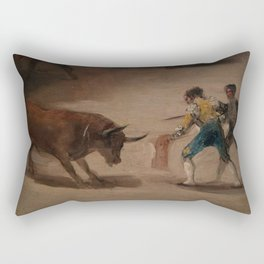 Bullfight in a Divided Ring Rectangular Pillow