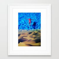 oasis Framed Art Prints featuring Oasis by John Turck