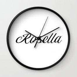 Name Rosella Wall Clock