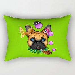 Drunk Dog (Green) Rectangular Pillow