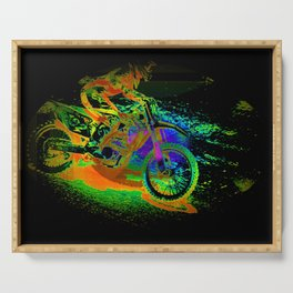 Race to the Finish! - Motocross Racer Serving Tray