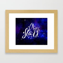 Oh My Stars Framed Art Print