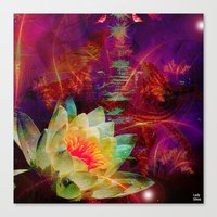 astrology Canvas Prints featuring Astrology by shiva camille