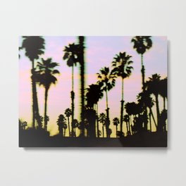 California Dreaming Palm Trees Sunset Metal Print