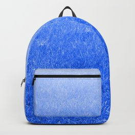 Light-to-Dark Blue Ombre Gradient Grass Backpack