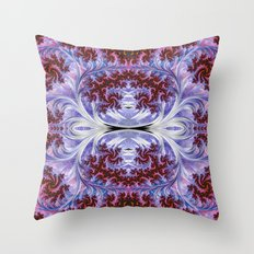 BBQSHOES: Fractal Art Design Mother Of Pearl #1814 Throw Pillow