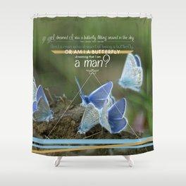 Tao butterfly Shower Curtain