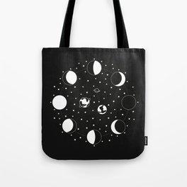 Wonder If - Moon Phase Illustration Tote Bag