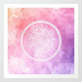 Watercolor Nature Mandala Art Print