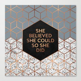 She Believed She Could 4 Canvas Print