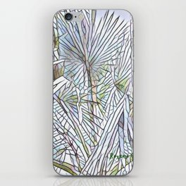 Abstract Palm, Palm Tree Design, White colorful palm, iPhone Skin