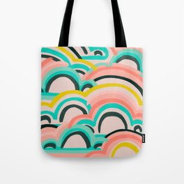 mostly cloudy Tote Bag