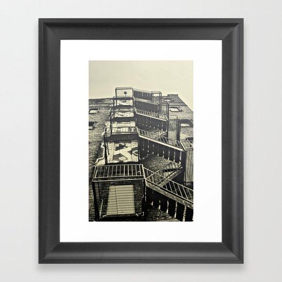 Stairz.  Framed Art Print