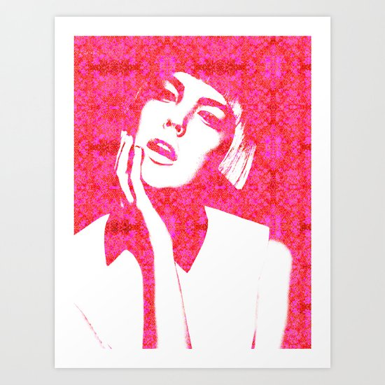 Hot Pink, Agyness Deyn, Fashion Art Print