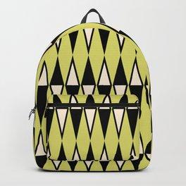 Mid Century Modern Diamond Pattern Black Chartreuse 231 Backpack