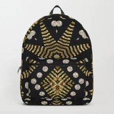 Black Gold   Geometric Tribal Backpacks
