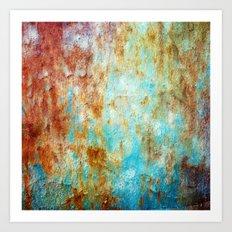 Grunge 'n' Rust Art Print