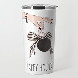Happy holidays decor Travel Mug