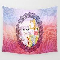 oscar wilde Wall Tapestries featuring Lady Oscar by Neo Crystal Tokyo