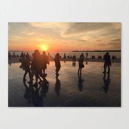 Sunset upon Zadar Canvas Print