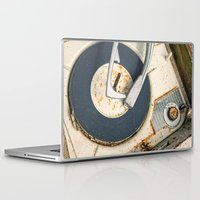 record Laptop & iPad Skins featuring Record Player by Shaun Lowe