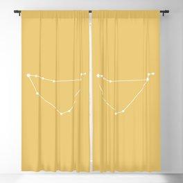 Capricorn Zodiac Constellation - Golden Yellow Blackout Curtain