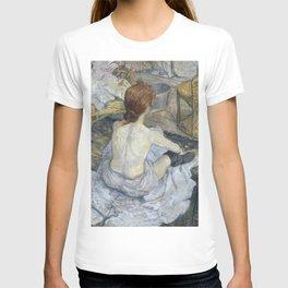 """Henri de Toulouse-Lautrec """"Rousse (La Toilette)"""" T-shirt"""