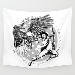 Eagle vs Patriot: The State of the Union 2018 Wall Tapestry