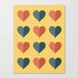 Hearts: Three Canvas Print