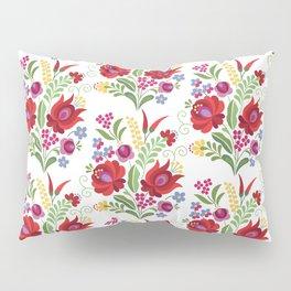 Hungarian Folk Design Red Peppers Pillow Sham