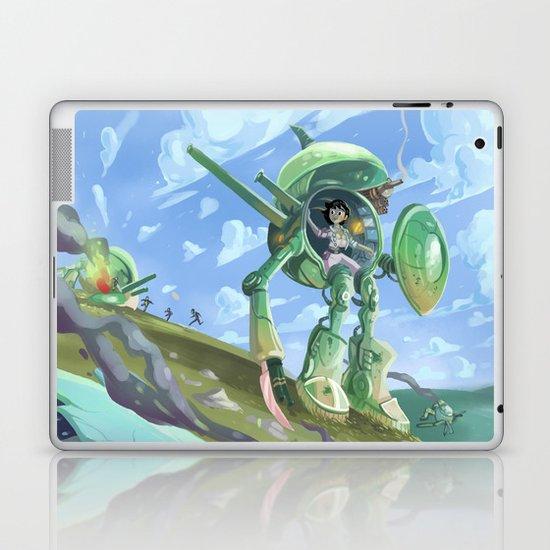 Robot + pin up Laptop & iPad Skin