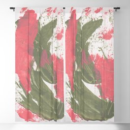 Abstract Cactus Flower Blackout Curtain