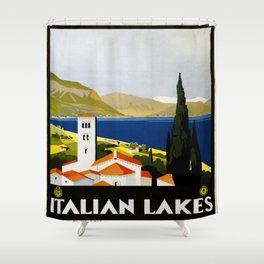 Vintage poster - Italian Lakes Shower Curtain