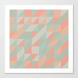 Retro triangles Canvas Print