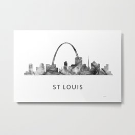 St Louis Missouri Skyline WB BW Metal Print